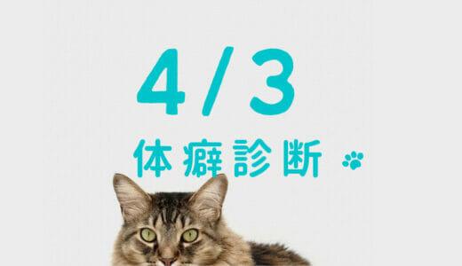 2021/4/3(土) 体癖診断実習講座